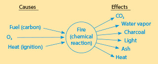 Chemical reaction cause effect