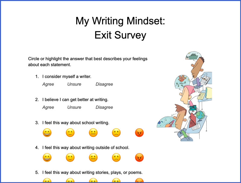 My Writing Mindset: Exit Survey