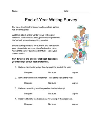 End-of-Year Writing Survey