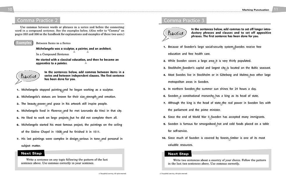 All Write SkillsBook Teacher's Edition pages 10 and 11