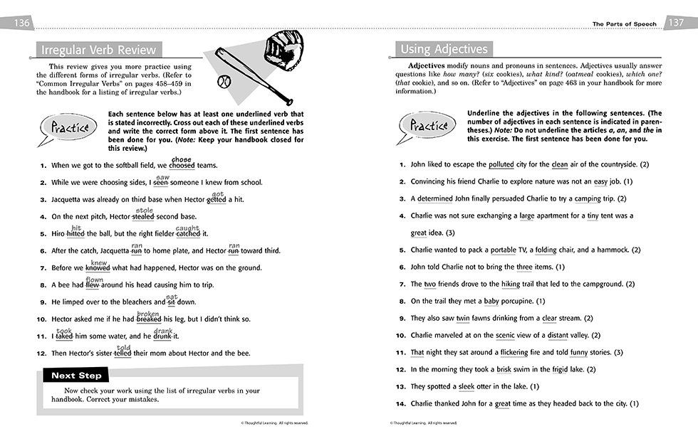 All Write SkillsBook Teacher's Edition pages 136 and 137