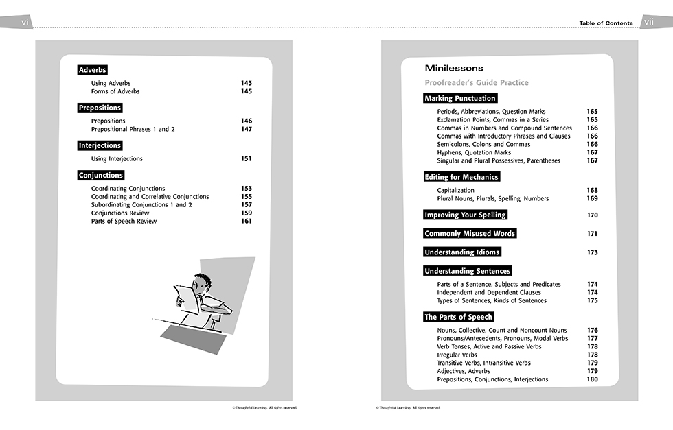All Write SkillsBook Teacher's Edition pages vi and vii