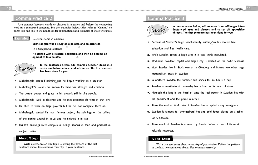 All Write Skillsbook pages 10 and 11