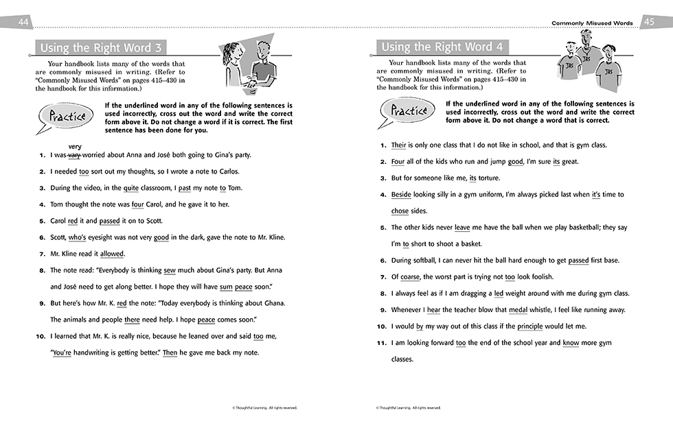 All Write Skillsbook pages 44 and 45