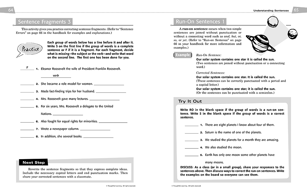 All Write Skillsbook pages 64 and 65