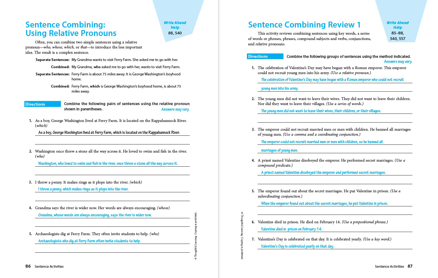 Write Ahead SkillsBook Grade 9 Page 86