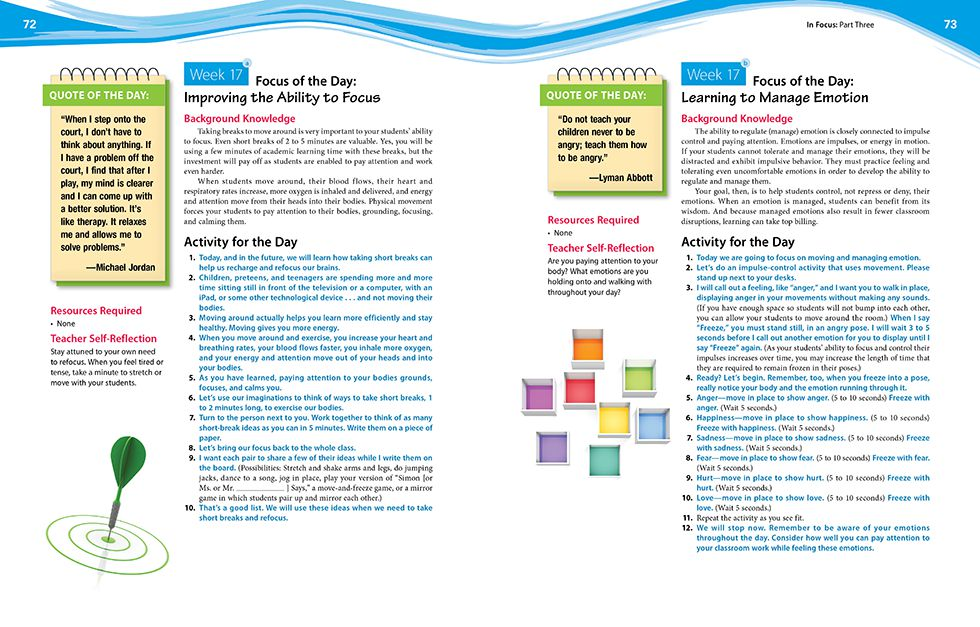 In Focus (Grades 6-8) Pages 72 and 73