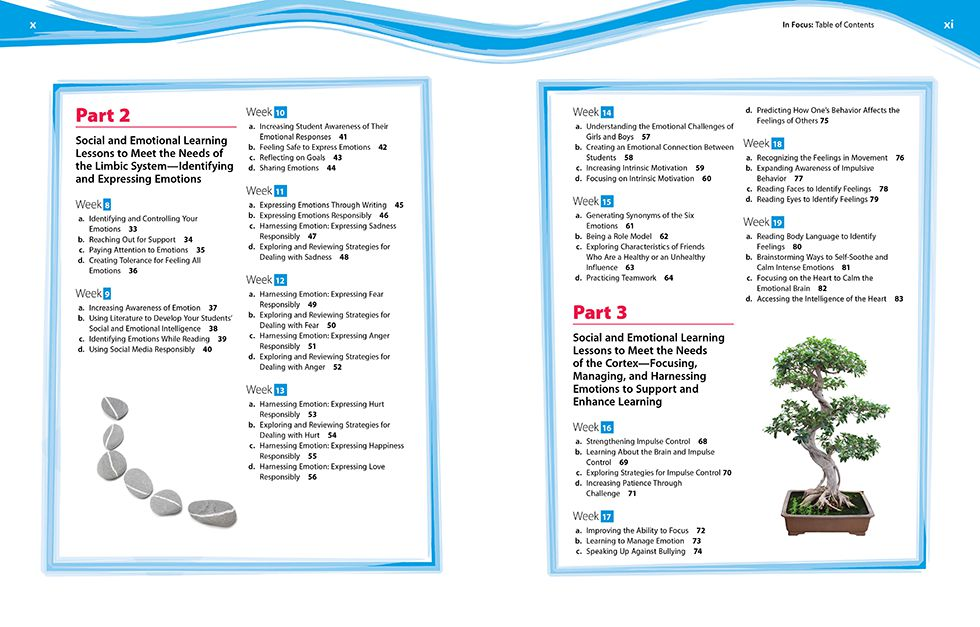 In Focus (Grades 6-8) Pages x and xi