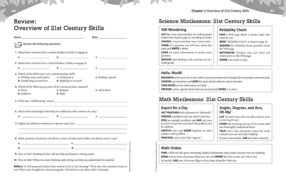 Inquire Elementary Teachers Guide Pages 66 and 67