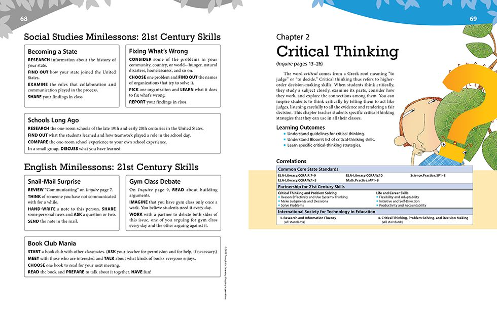 Inquire Elementary Teachers Guide Pages 68 and 69