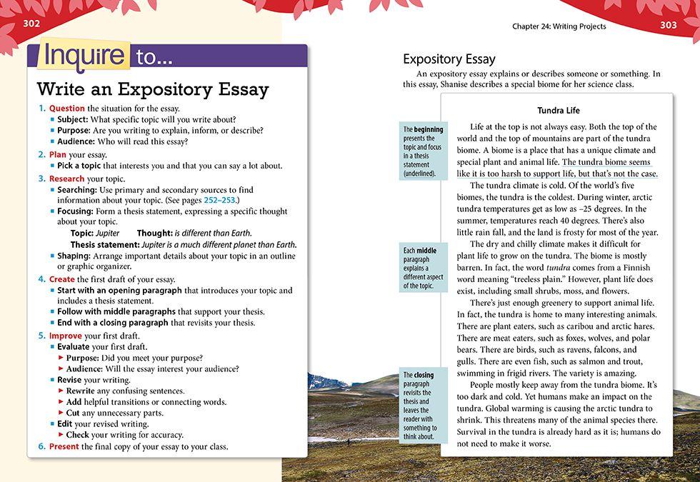 write descriptive expository essay