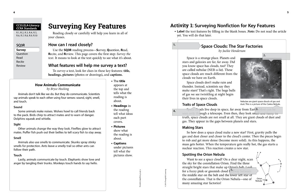 Shifting to the Common Core English/Language Arts (Grades 2-3) Page 4 and 5