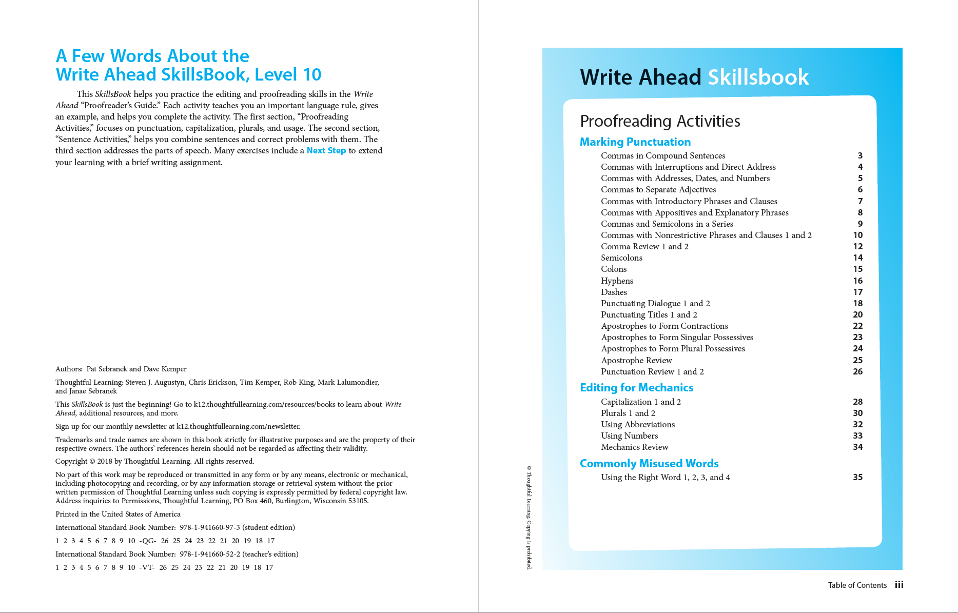 Write Ahead SkillsBook TG page i