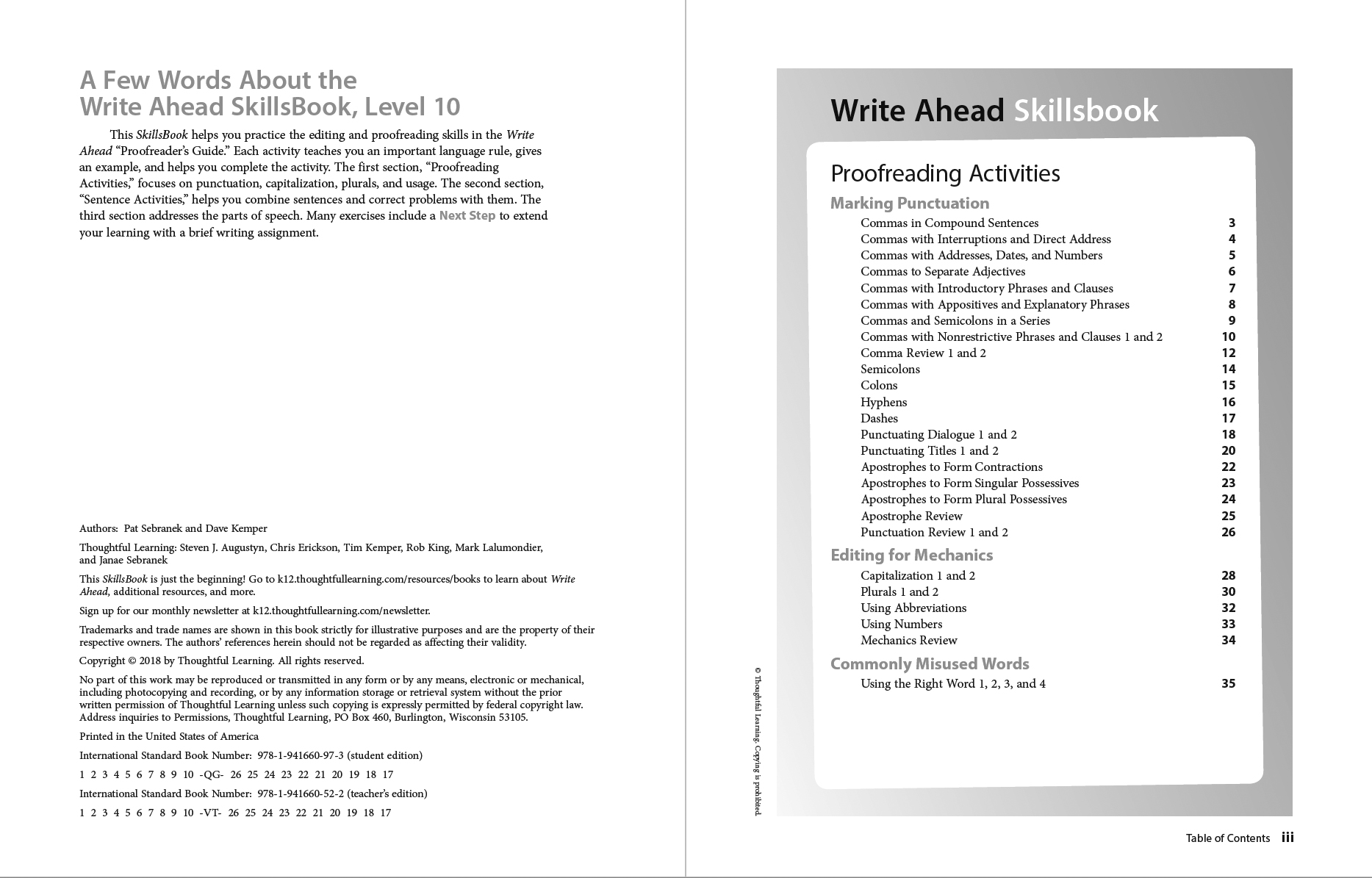 Write Ahead SkillsBook page i