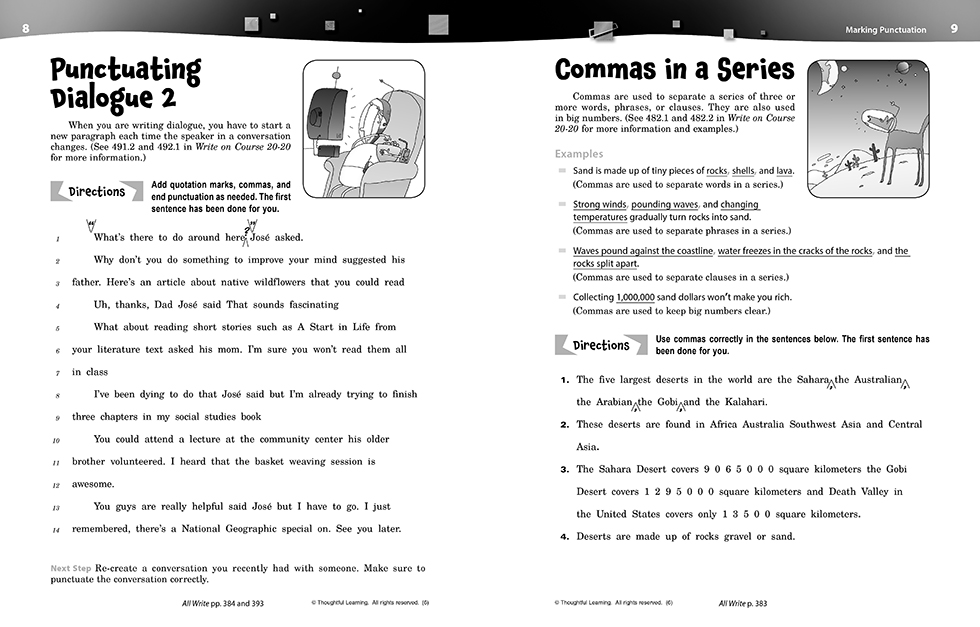 Write on Course 20-20 SkillsBook (6) pages 8 and 9