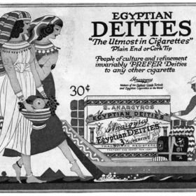 Egyptian Deities Cigarette Ad