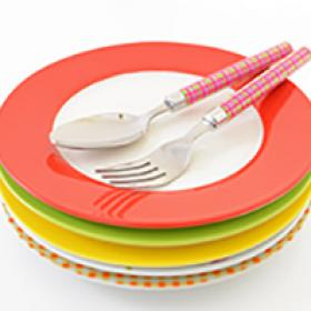 Image of plates and silverware
