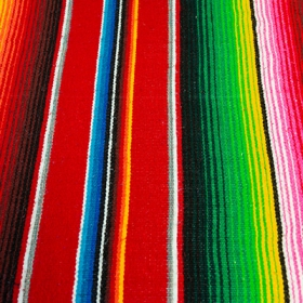 Colorful fabric from a southwestern rug