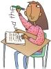 girl freewriting