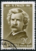 Stamp of Mark Twain