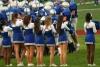 Cheerleaders at a high school football game