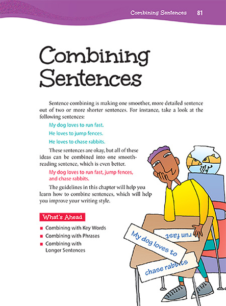 combined sentence Sentence skills review the cpt sentence skills test measures students' editing when the dependent clause comes in the beginning of the combined sentence.