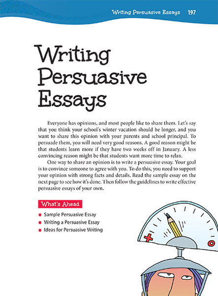 writing persuasive essays thoughtful learning k  27 writing persuasive essays page