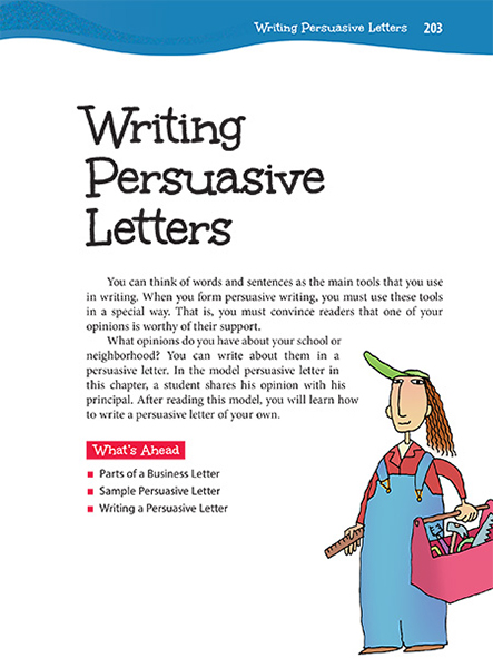 Writing Persuasive Letters  Thoughtful Learning K