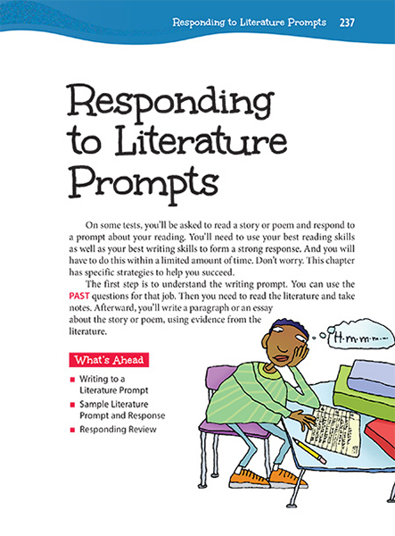 response to literature essay prompts Expository - writing an essay answer : prompt 3: persuasive - writing a letter to the editor : response to literature - writing a letter to an author: grade 8.