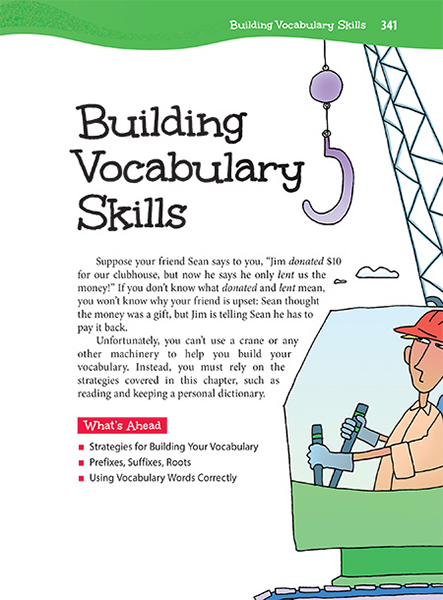 45 building vocabulary skills thoughtful learning k 12 for Construction vocabulary
