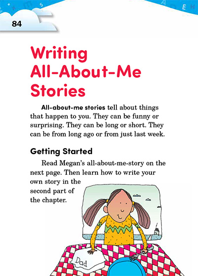 Writing All-About-Me Stories