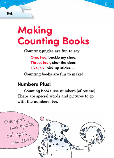 Writing Counting Books
