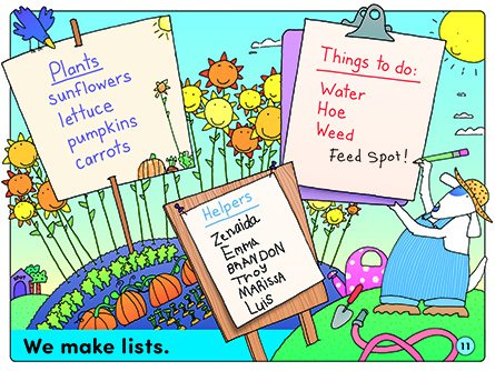 We make lists.