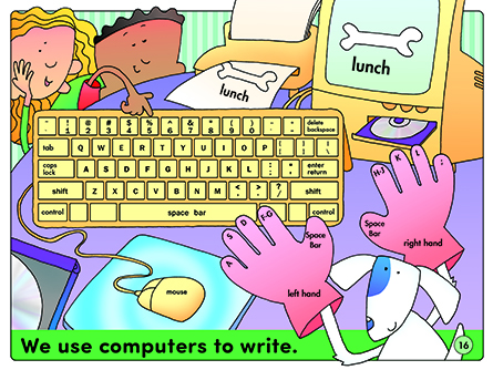 We use computers to write.