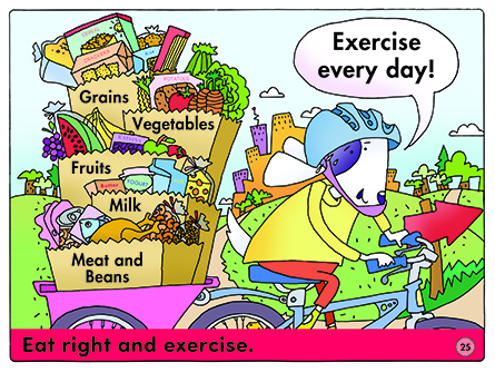 Eat right and exercise.