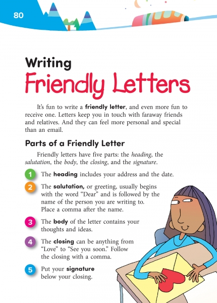 parts of a friendly letter 17 writing friendly letters thoughtful learning k 12 23902