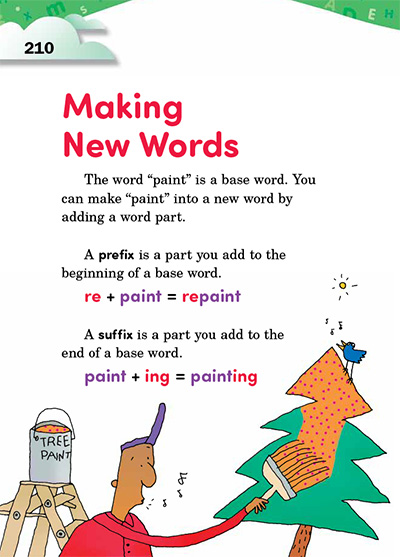 Making New Words Opening Page