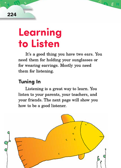 Learning to Listen Opening Page