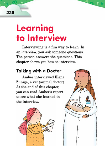 Learning to Interview Opening Page