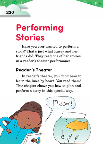 Performing Stories Opening Page