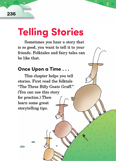 Telling Stories Opening Page