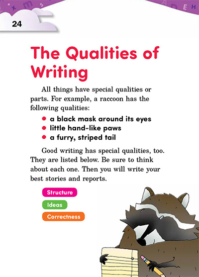 The Qualities of Writing Opening Page