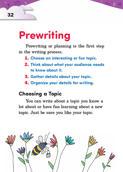 Prewriting Opening Page