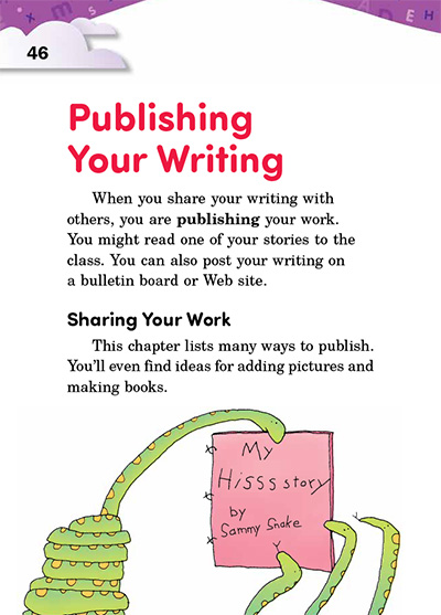 Publishing Your Writing Opening Page