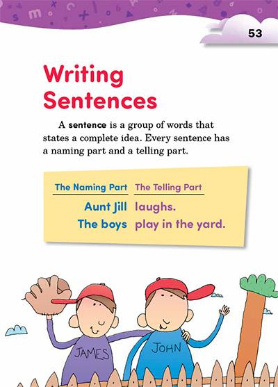 Writing Sentences Opening Page