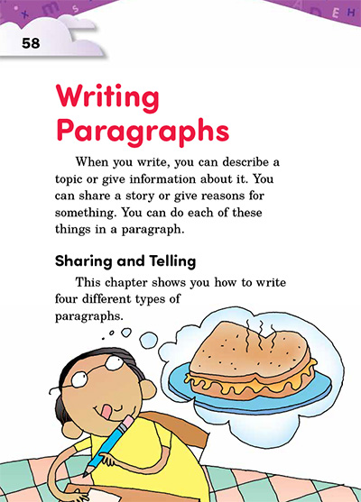 Writing Paragraphs Opening Page