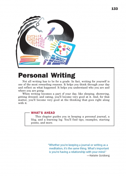 college journal writing examples