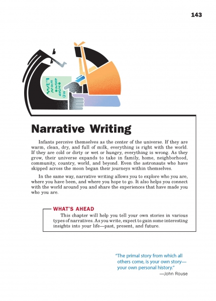 Narrative Writing Chapter Opener