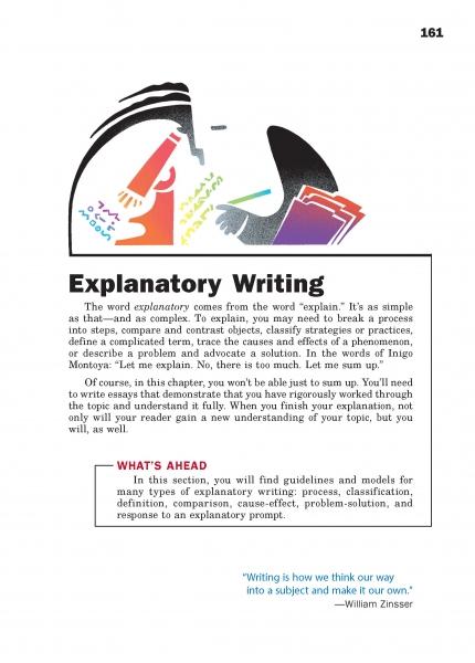 Explanatory Writing Chapter Opener