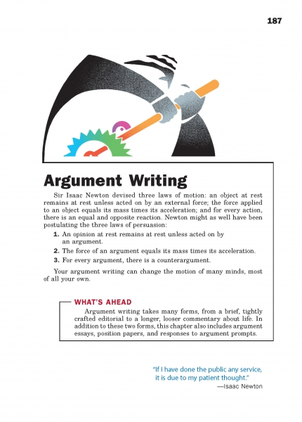 Argument Writing Chapter Opener